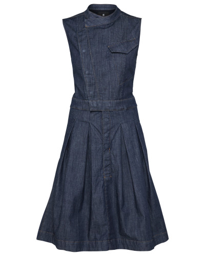 Blusenkleid 'Pleat ha' navy