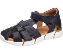 Sandalen für Mädchen nachtblau / weiß