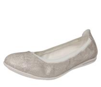 Ballerina im Reptilien-Look silbergrau