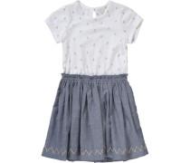 Kinder Jerseykleid grau / weiß