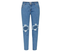 Five-Pocket-Jean blau