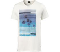 'real' T-Shirt blau / weiß