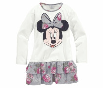 Jerseykleid mit Minnie Mouse Druckmotiv grau / weiß