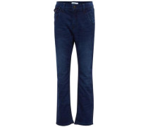 Baggy-Sweat-Denim-Jeans blau / dunkelblau