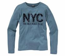 Langarmshirt mit Pailletten für Mädchen hellblau