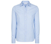 Langarm Bluse hellblau / weiß