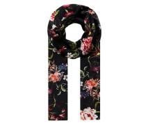 Schal mit Blumen- und Kolibri-Print mischfarben