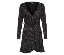 Kleid mit offener Front schwarz