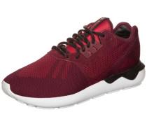 Tubular Runner Weave Sneaker rot / schwarz / weiß