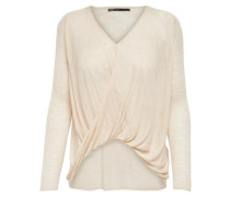 Twisted-Strickpullover creme
