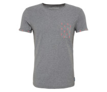 Shirt 'Crew with turn ups and pocket' graumeliert