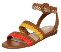 Sandale 'Arionna' braun / gelb / orange