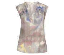 Kurzarm-Bluse mit Aufdruck mischfarben