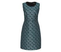Jacquard-Kleid mit Perlenkragen grün