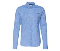 Hemd 'modern worker shirt' blau