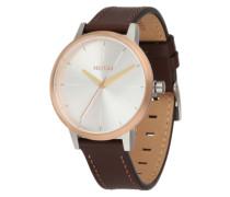 Armbanduhr 'Kensigton Leather' (Gehäuse: 33 mm) braun / rosé