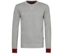 Sweatshirt 'falko C-Nk CF' nachtblau / graumeliert / rot