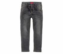 Skinny-fit-Jeans black denim