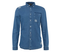 Hemd 'destroy Shirt' blue denim