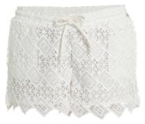Shorts aus Zierborten im Layer-Look weiß