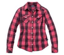 Hemd für Mädchen pink / schwarz