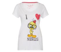 T-Shirt 'Tweety' mischfarben / weiß