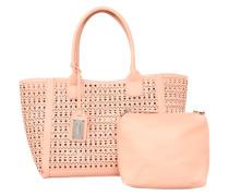 Shopper-Bag mit Kosmetiktasche rosa