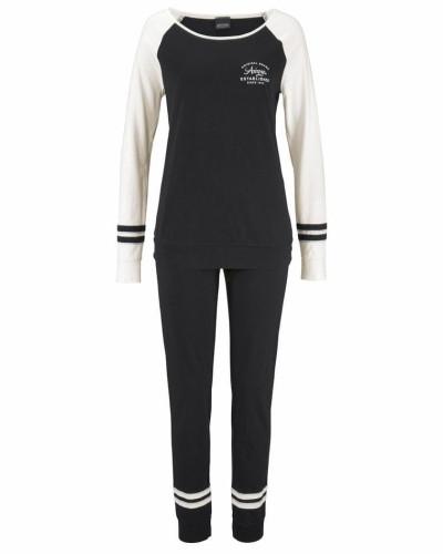 Pyjama ecru / schwarz