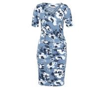 Kleid 'Livi India' rauchblau / weiß