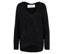 Oversize Pullover 'mesh' schwarz