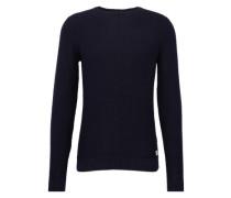 Pullover 'structured sweater' kobaltblau