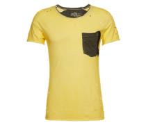 Shirt 'MT Andi round' gelb / graphit