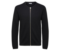warmer Strick-Cardigan schwarz
