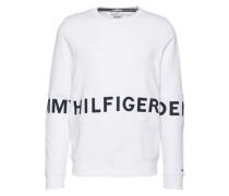 Sweatshirt mit Print weiß