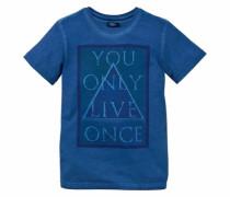 T-Shirt mit Frontdruck für Jungen blau