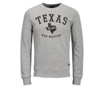 Sweatshirt Print graumeliert / schwarz