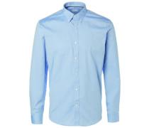 Langarmhemd Slim Fit - Elegant blau