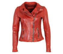 Lederjacke 'Really Hot' rot