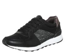 Sneaker mit Metallic-Effekten schwarz