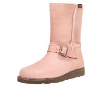 Gefütterter Stiefel aus Leder rosa