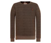 Sweatshirt 'Indifference Of Good Men Iii' braun / schwarz
