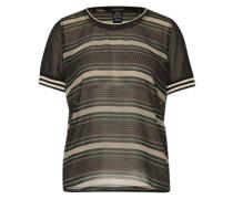Shirt im Mustermix grün / schwarz