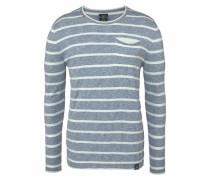Pullover MST St.tr rauchblau / weiß