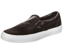 Classic Slip-On Metallic Gore Sneaker Damen schwarz