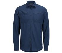 Vielseitiges Langarmhemd dunkelblau
