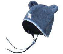 Baby Mütze zum Binden für Jungen blau