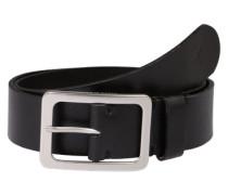 Vintage-Gürtel aus Leder schwarz