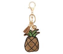 Schlüsselanhänger 'Ananas' braun