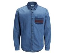 Lässiges Langarmhemd blue denim