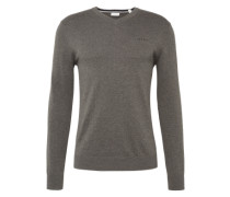 Pullover 'Basic CO V-nk' taupe